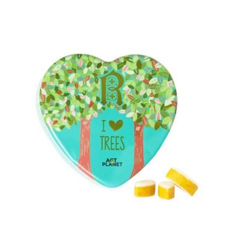 Boîte Coeur Petits Calissons I Love Trees